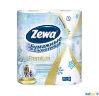 ZEWA Premium 2шт Decor  Зимняя коллекция