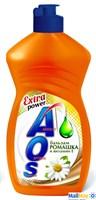 Средство для посуды AOS 450мл 2в1 бальзам Ромашка и витамин Е