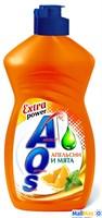 Средство для посуды AOS 450мл Апельсин и мята