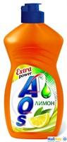Средство для посуды AOS 450мл Лимон