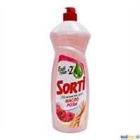 Средство для посуды SORTI Нежность рук 1000мл Масло розы