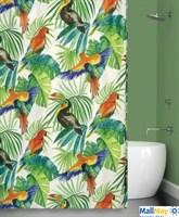 Штора для ванной BIRDS JUNGLE