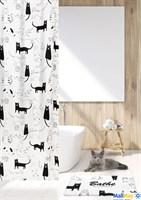 Штора для ванной Кошки