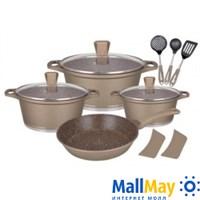 Набор посуды 12 предметов, WINNER GOLD ALMOND (1310-WR)