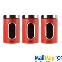 Набор контейнеров для сыпучих продуктов, 3 предмета, WINNER (6908-WR)