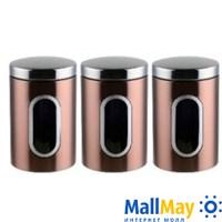 Набор контейнеров для сыпучих продуктов, 3 предмета, WINNER (6912-WR)