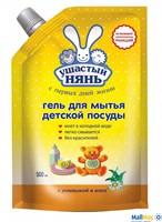 УШАСТЫЙ НЯНЬ 500мл гель для мытья детской посуды дой-пак