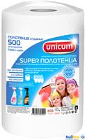 Бумажные полотенца UNICUM FAMILY-master 500 шт в рулоне 23x22
