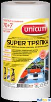 Салфетки хозяйственные UNICUM 70+7шт 24x30 Super тряпка