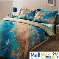 Код: 7032B-8800003274 Комплект постельного белья TAC/SATIN/семейный / PUNTO, голубой