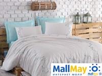 10066 Комплект постельного белья DANTELA VITA сатин с вышивкой JENNA  мятный