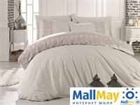 10067 Комплект постельного белья DANTELA VITA Ранфорс с гипюром GIZEM  бежевый