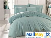10067 Комплект постельного белья DANTELA VITA Ранфорс с гипюром GIZEM  мятный