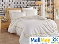 10068 Комплект постельного белья DANTELA VITA сатин с вышивкой SIENNA  золотой