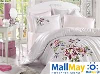 10072 Комплект постельного белья DANTELA VITA сатин с вышивкой PERLA
