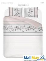 PINKYBELL Комплект постельного белья Серо-розовый, ранфорс, 140ТС,  евро