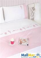 Комплект постельного белья 'ICECREAM', цвет: белый/розовый