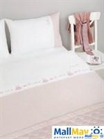 Комплект постельного белья 'SWEET LIFE', цвет:белый/жемчужно-розовый