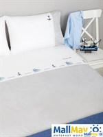 Комплект постельного белья 'SEA DREAMS', цвет:белый/синий