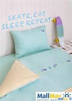 Комплект постельного белья 'SKATEBOYS', цвет: мятный/банановый