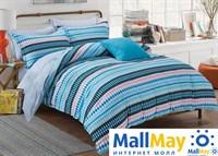 Сатин полутороспальный Комплект постельного белья Dome сатин пигмент 1,5(50*70) SDP 1557 Н-55