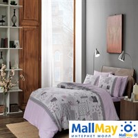 Код: 4080-34522 Комплект постельного белья TAC/RANFORCE/1,5 сп. Elora, лиловый