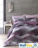 HELIX Комплект постельного белья mor/purple/пурпурный сатин, 200ТС,  евро