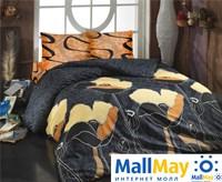 8020 Комплект постельного белья  COTTON LIFE 1,5 сп.  JULIET коричневый
