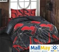 8006 Комплект постельного белья  COTTON LIFE Creton 2 сп.  JULIET красный