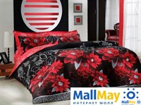 5943 Комплект постельного белья  COTTON LIFE Creton 2 сп.  CASABLANCA красный