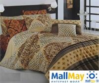 8023 Комплект постельного белья  COTTON LIFE 1,5 сп.  NIGHT коричневый