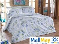 6065 Комплект постельного белья  COTTON LIFE 1,5 сп.  ROSELINDA голубой