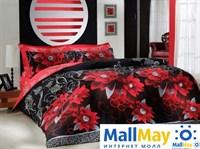 6047 Комплект постельного белья  COTTON LIFE 1,5 сп.  CASABLANCA красный