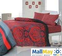 6165 Комплект постельного белья  COTTON LIFE 1,5 сп.  DAMASK красный