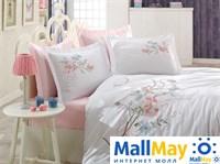 9343 Комплект постельного белья DANTELA VITA сатин с вышивкой NERGIS белый