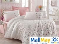 9344 Комплект постельного белья DANTELA VITA сатин с вышивкой FLORA