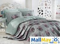 Комплект постельного белья DANTELA VITA сатин с вышивкой OYKU мятный
