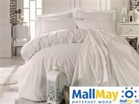Комплект постельного белья DANTELA VITA сатин с вышивкой GIZEM кремовый
