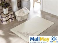 """2524 Коврик махровое для ванной """"IRYA"""" французский кружевной PEARLY 60x90 см 1/1 Кремовый"""