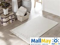 2569 Коврик махровое для ванной 'IRYA' кружевной BRIDE 60x90 см 1/1 Mолочный