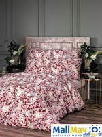 ХАНАМИ красн Комплект постельного белья 145Х200/180х220/50Х70-2, 4 пр, хл/сат.