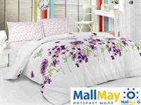 Код: 1108-84905 Комплект постельного бельяBRIELLE/RANFORCE/1,5сп/318 V3, white/violet
