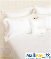 """Комплект постельного белья """"QUEEN"""", цвет: белый/бежевый"""