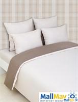 """Комплект постельного белья """"DUETTO 7"""", цвет: бежевый/шоколадный"""
