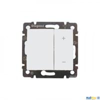 Legrand 770074 Кнопочный светорегулятор Valena 40-600 Вт/40-600 ВА белый